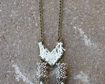 Chevron Contrast Necklace