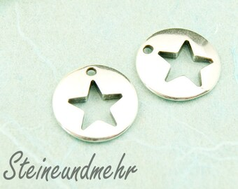 1 x silver plated 2860 pendant star article