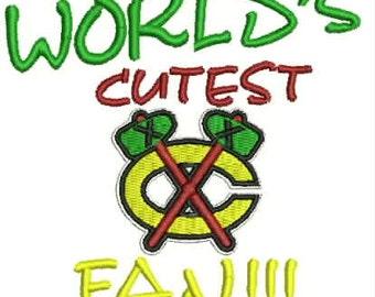 Children/Infant Blackhawks Embroidery Design