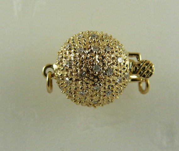 Clasp 14k Yellow Gold & Diamonds 0.35ct