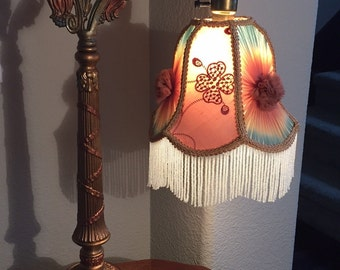 Sold.  Shade no longer available however lamp is available- see other listing for Bridge Arm Table Lamp with Small Bell Shade