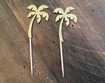 Palm Tree Cupcake Topper