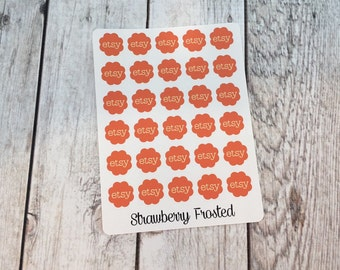 Etsy Planner Stickers - Made to fit Vertical or Horizontal Layout
