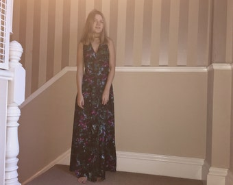 Boho Maxi Evening Dress / Exotic party dress
