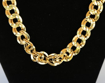 Vintage Monet chunky gold link necklace