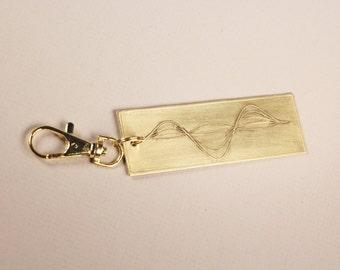 Custom Soundwave Key Chain, Soundwave Jewelry, Voicewave Necklace, Grandaddy New Dad Gifts
