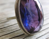 Sterling Color-Changing Sapphire Ring