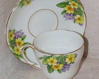 Diamond Teacup & Saucer - 47
