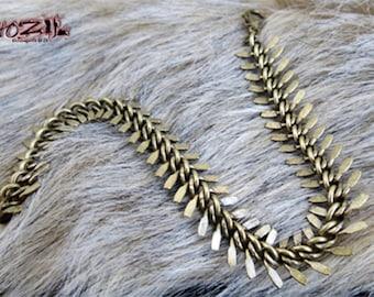 """Bracelet """"Vertebra"""" snake chain bronze"""