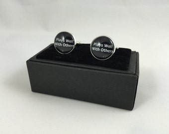 Plays Well with Others Cuff Links