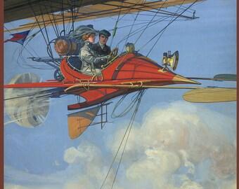 Futuristic Air Travel Print - Vintage Transportation and Travel Print - Air Travel - Airplanes