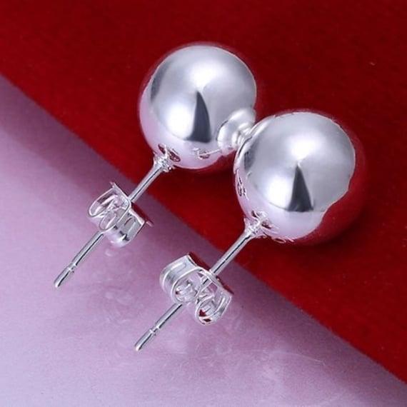 Lovely handmade sterling silver 8mm stud earrings
