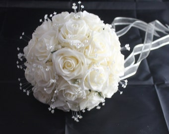 IVORY SILK BRIDAL Bouquet