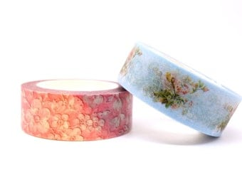 Kawaii 10m high quality WASHI tape stationery SCRAPBOOK diary planner DIY pink blue floral