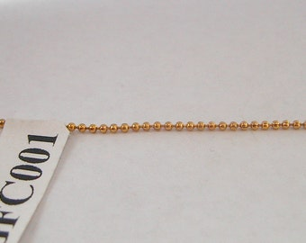 1.6mm Gold Filled Round Chain 18K GFC001 Sold by Foot