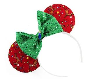 Rudolph Christmas Mouse Ears