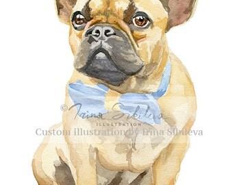 Custom pet portrait. Custom pet illustration. Custom portrait. Dog art. Dog print. Dog portrait. Personalized pet. Pet portrait.