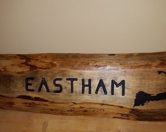 Rustic CAPE COD beach house sign EASTHAM cape cod custom routered letters