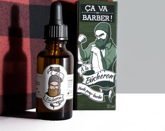 Oil for beard - woodcutter - handmade in Lyon - gift idea for man with beard