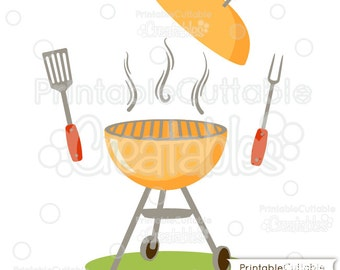 BBQ Grill SVG Cut Files & Clipart Set E133 - Includes Limited Commercial Use!