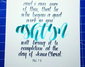Phil 1:6 Personalized