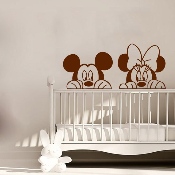 mickey wall decal minnie mouse vinyl stickers by mickey and minnie mouse wall decal disney wall decal mickey