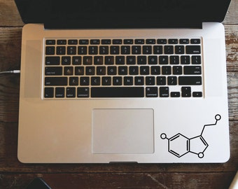 Serotonin Molecule MacBook Sticker, Chemical Structure Decal, Chemistry Car Decal, MacBook Sticker, Science Decal, Happiness Serotonin Decal