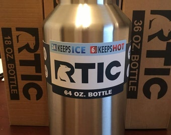 Custom Etched 64oz RTIC Bottle