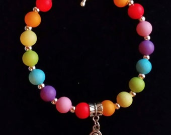 Rainbow triskele Bracelet