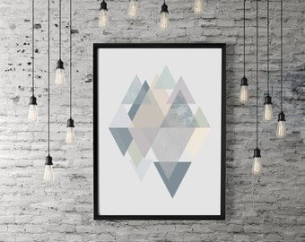 Geometric Triangle Wall Art / Poster