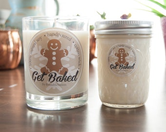 Get Baked - Gingerbread : natural soy candle for the Holidays