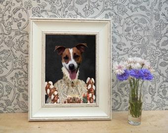 Jack Russell in dress Framed Pet Portrait Print