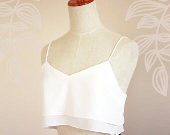 Jessa Cropped Singlet - White