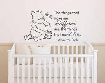 Winnie The Pooh Wall Decal Quote The Things That Make Me Different  Classic  Winnie The Part 81