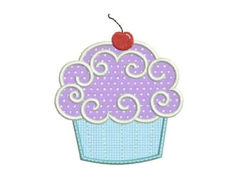 SALE 50% 7 Size Cupcake Applique Embroidery Designs, Machine Embroidery Designs - 8 File Fomats