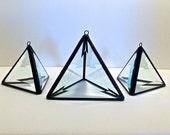 Prism Pyramid - Beveled Glass Pyramid - Rainbow