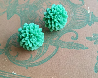 gorgeous huge chrysanthemum resin stud earrings, gift for your friend