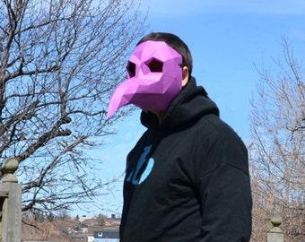 Plague Doctor  Mask Steampunk Bird Beak Harbinger Papercraft DIY Awesome Paper Party Mask Halloween Paper Craft Origami Pepakura