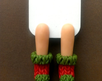 Bookmark, warm socks, bookmark,  Knitted socks, bookworm