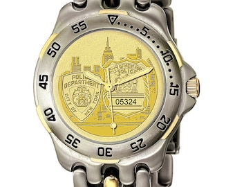 Mens NYPD Seiko Cityscape Wach - Police Officer