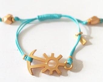 Golden & Aqua Bracelet
