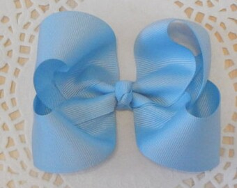 Light Blue Boutique Bow, Boutique Bow, Girls Bow, Baby Bow, Hair Bow, Hair Accessories
