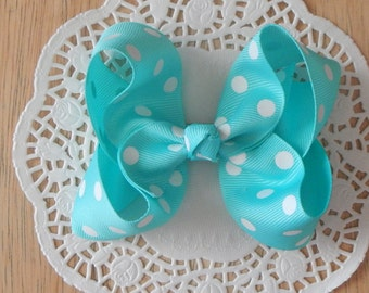 Mint Color Boutique Bow, Boutique Bow, Mint Boutique Bow,Mint Bow, Girls bow, Baby Bow, Hair Bow, Hair Accessories