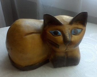 Hand carved Cat