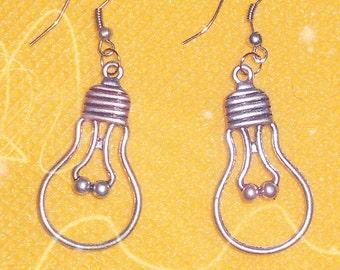 metal light bulbs dangle earrings