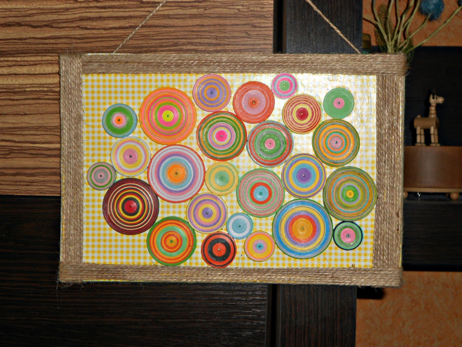 Quilling Wall Art Paper Wall Hanging Meditation Picture