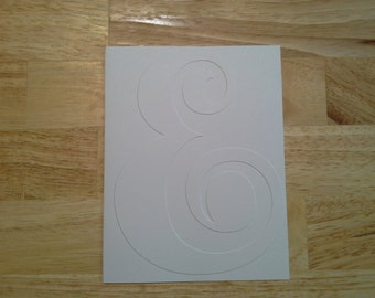 10 Embossed Note Cards, Embossed with the Ampersand Sign. Great for Invitation, just because, thinking of you and many more occasions.