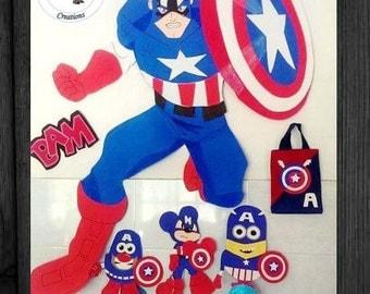 """Captain America Large 39"""" Foam Figure"""