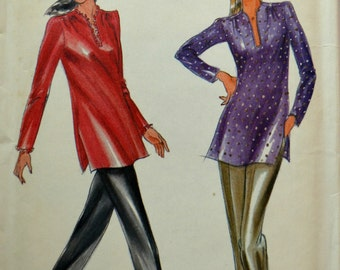Uncut 1980s Butterick Vintage Sewing Pattern 3521, Size 8-10-12; Misses' Tunic & Pants