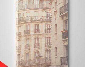CANVAS SALE! France, Paris, Paris photography, Paris house, Paris balcony, wall art print, Paris window, Paris print, fine art, canvas, #103